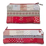 Soldier Pouch PDF Pattern bonus pattern for a slim pencil case/crochet pouch zip pouch patchwork quilted Londons store