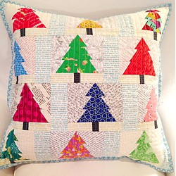 Christmas tree mini quilt pillow cushion pattern